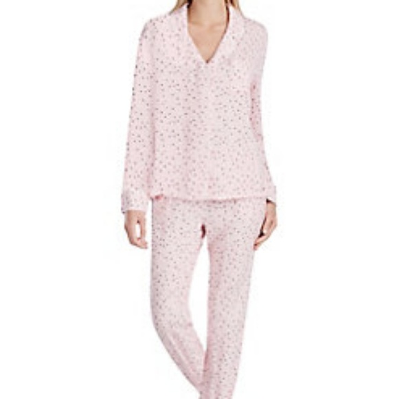 Kensie Pink Pajama Set with Star Print. NWT 76cf92f42